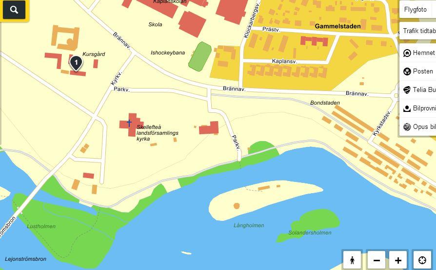 Karta över närområdet